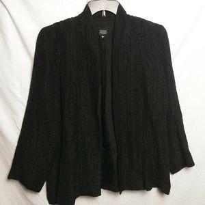 Eileen Fisher Crinkle Silk/Linen Blend Jacket